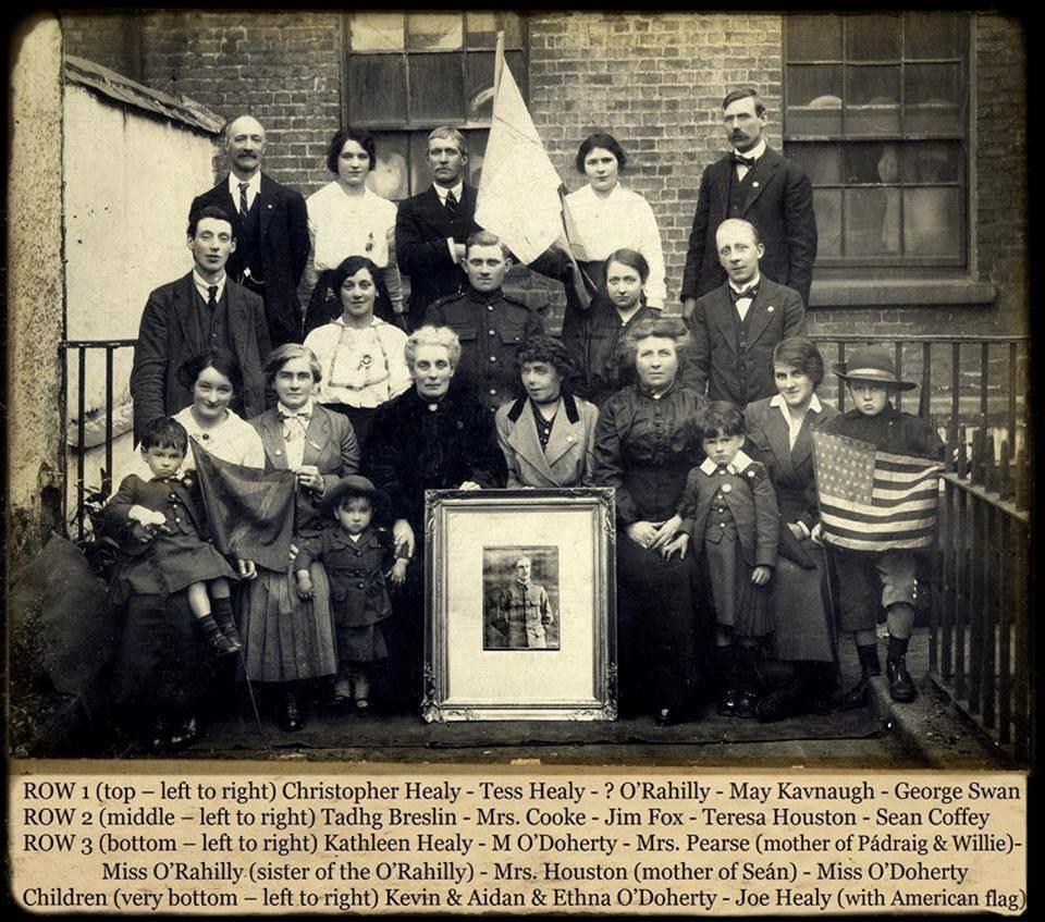 Group photo including Mrs Houston and Teresa Houston